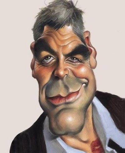 Caricature George Clooney