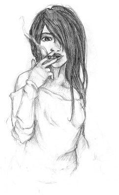 Dessin Femme Qui Fume